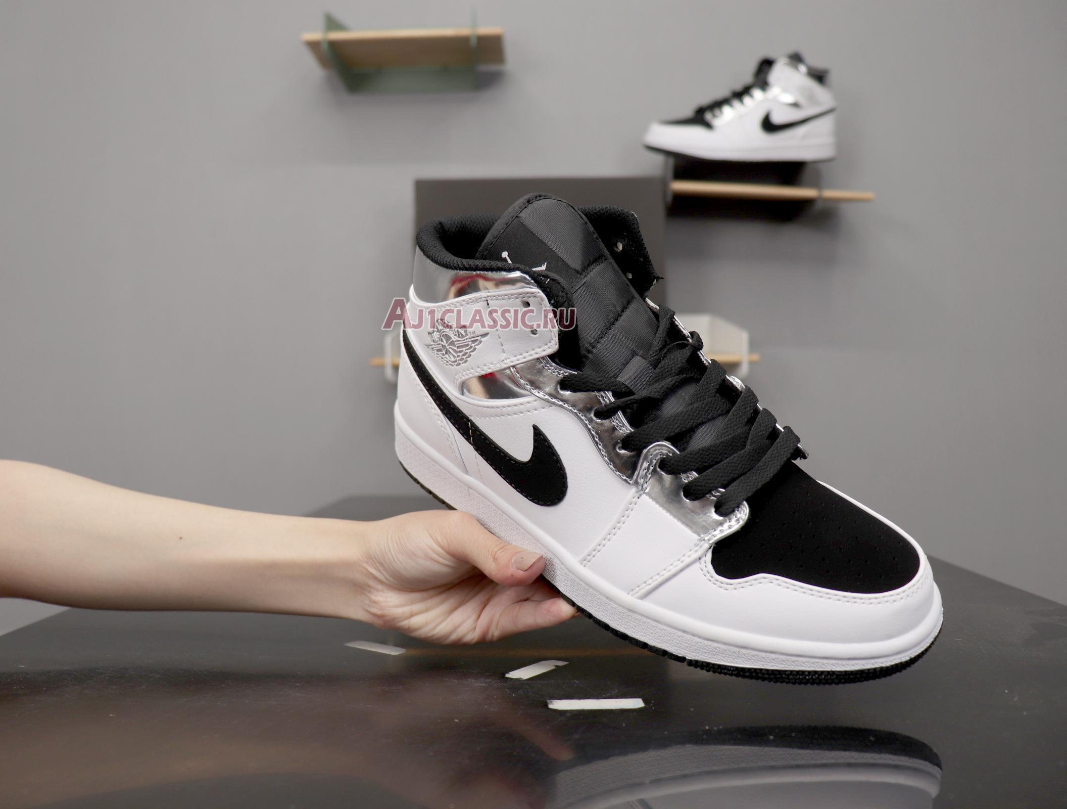 """Air Jordan 1 Mid """"White Silver"""" 554724-121"""