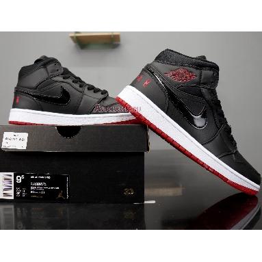 Air Jordan 1 Retro Mid Bred BQ6578-001 Black/University Red-White Sneakers