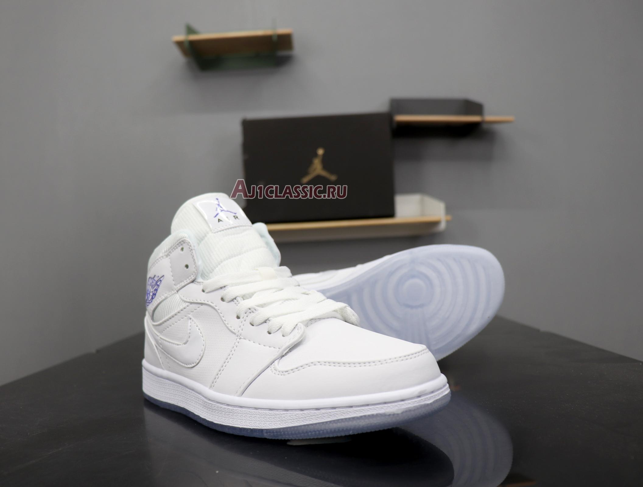 "Air Jordan 1 Retro Mid ""White Concord"" BQ6578-100"