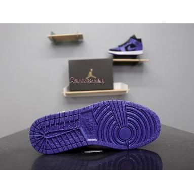 Air Jordan 1 Mid Dark Concord 554724-051 Black/Dark Concord-White Sneakers