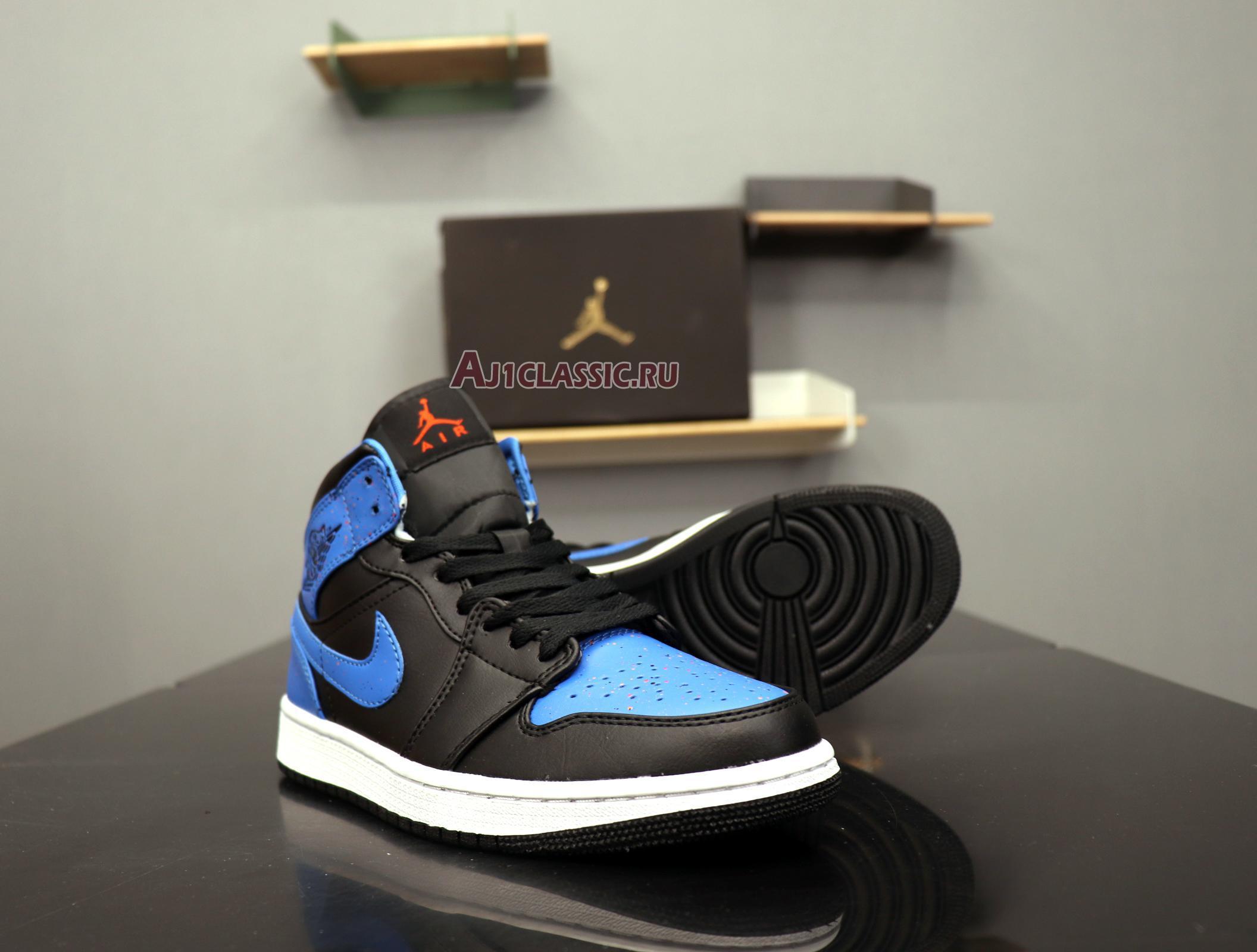 "Air Jordan 1 Mid ""Royal Splatter"" 554724-048"