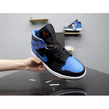Air Jordan 1 Mid Royal Splatter 554724-048 Black/Signal Blue Orange Peel Team Orange Sneakers