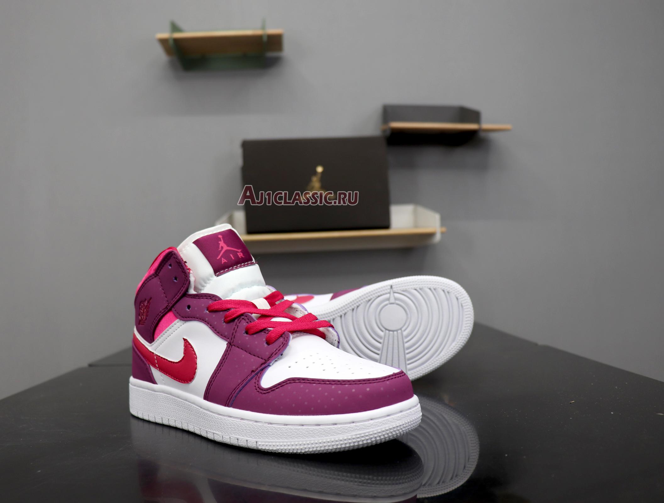 """Air Jordan 1 Mid GS """"Rush Pink"""" 555112-661"""