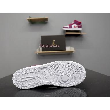 Air Jordan 1 Mid GS Rush Pink 555112-661 True Berry/Rush Pink-White Sneakers