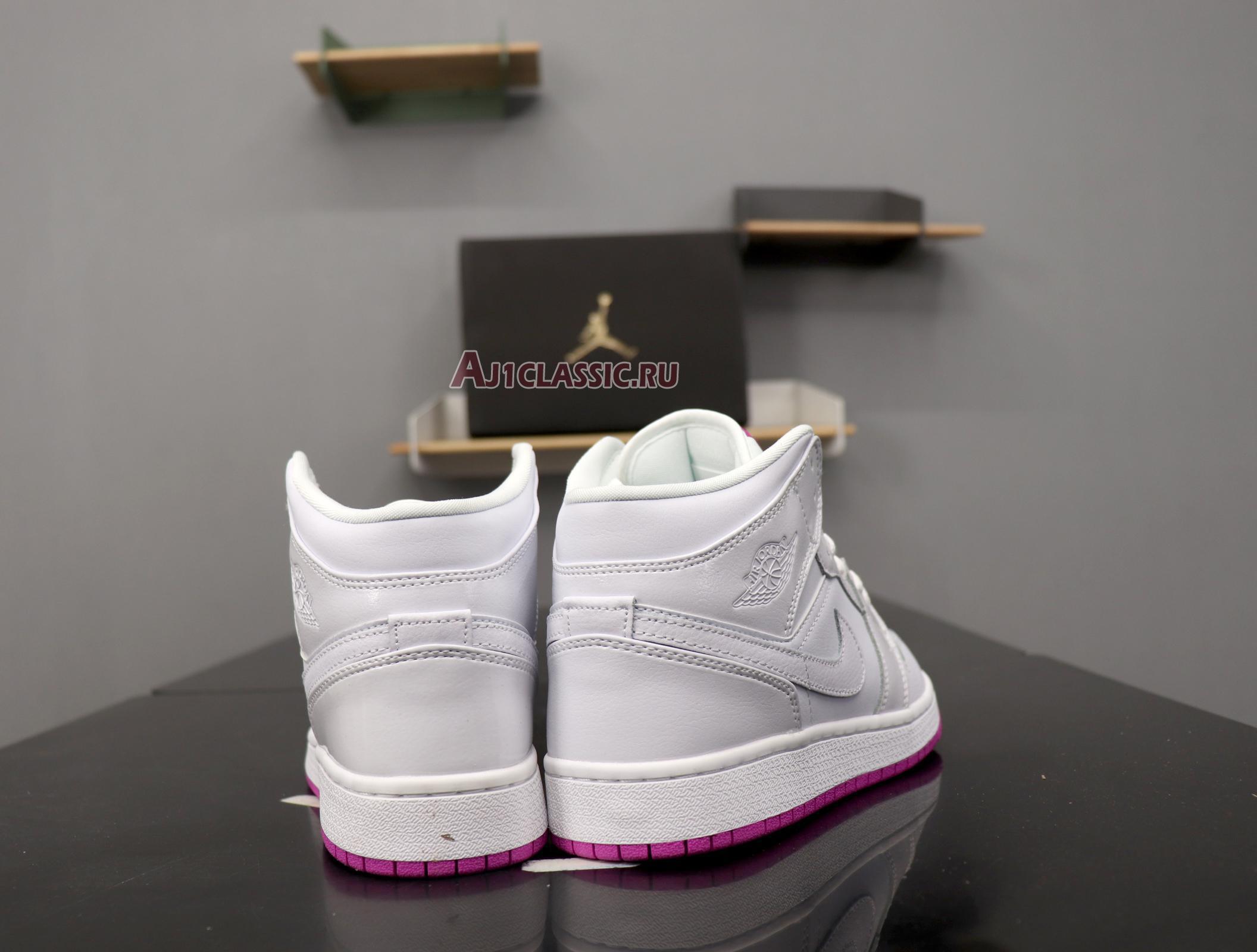 """Air Jordan 1 Mid GS """"Fuchsia"""" 555112-100"""