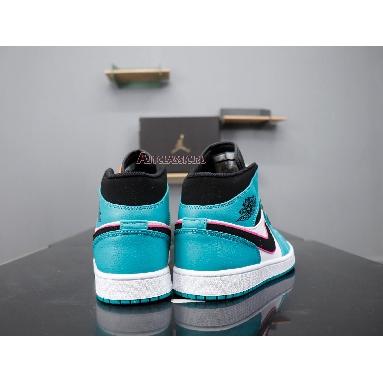 Air Jordan 1 Mid SE South Beach 852542-306 Turbo Green/Black-Hyper Pink-Orange Peel Sneakers