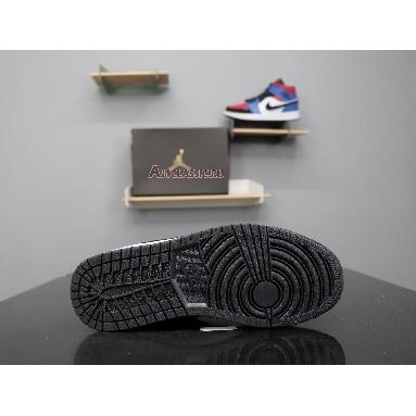 Air Jordan 1 Mid Top 3 554725-124 White/Hyper Royal-University Red-Black Sneakers