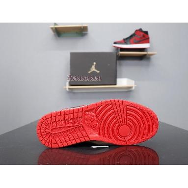 Air Jordan 1 Mid Banned 554724-610 Gym Red/Black-White Sneakers