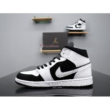 Air Jordan 1 Retro Mid Tuxedo 554724-113 Black/White Sneakers