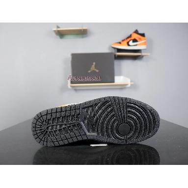 Air Jordan 1 Mid Black Cone 554724-062 Orange/Black/Cone-Light Bone Sneakers