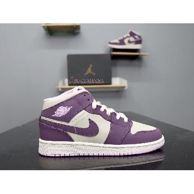 Air Jordan 1 Retro Mid GS Pro Purple 555112-500 Pro Purple/Desert Sand Sneakers