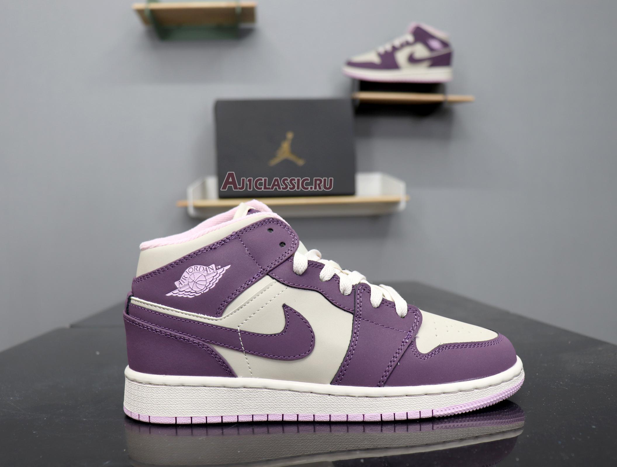 "Air Jordan 1 Retro Mid GS ""Pro Purple"" 555112-500"
