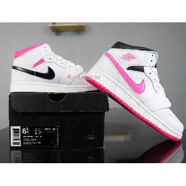 Air Jordan 1 Retro Mid GS Hyper Pink 555112-106 White/Black-Hyper Pink Sneakers