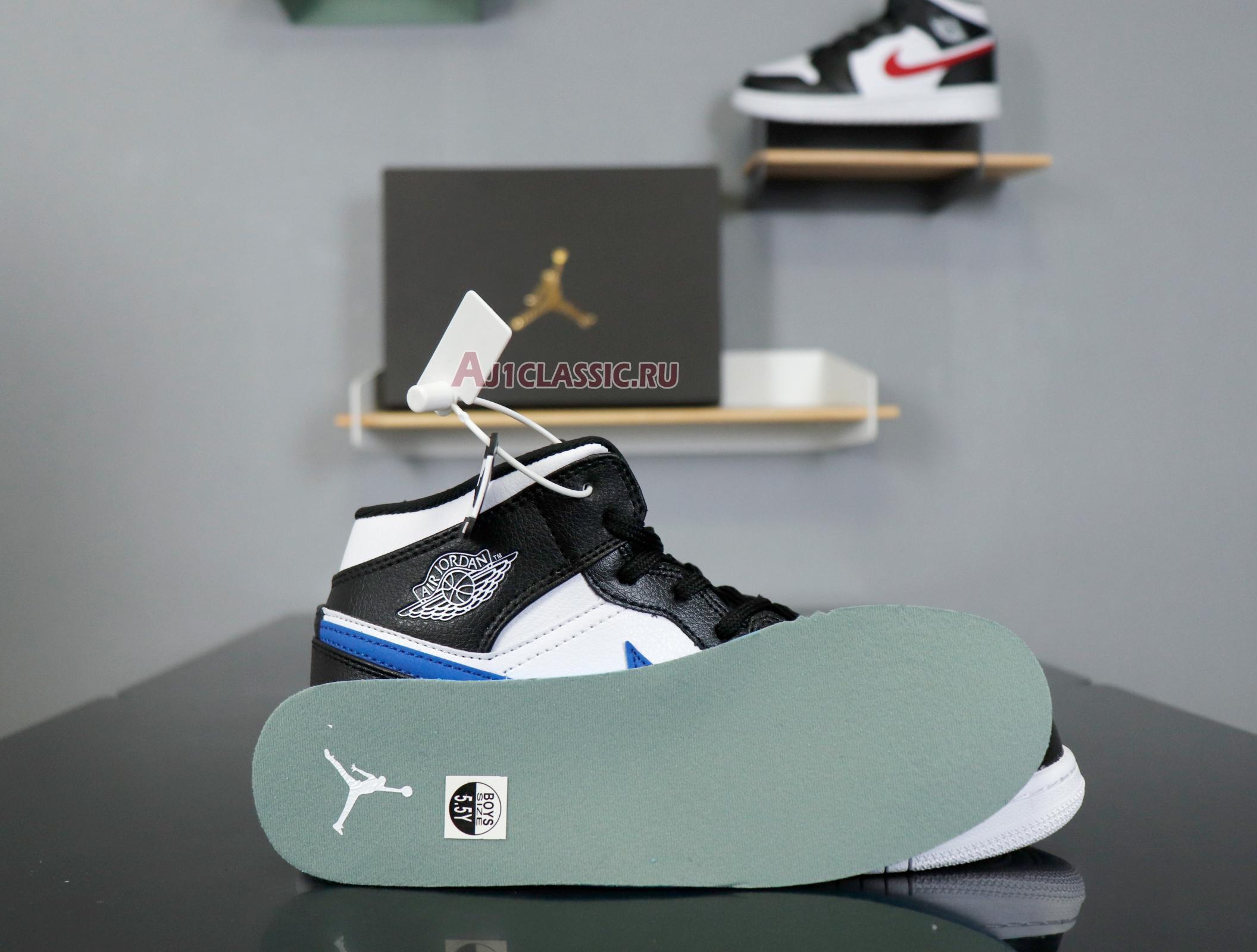 """Air Jordan 1 Retro Mid GS """"Multi-Color Swoosh"""" 554725-052"""
