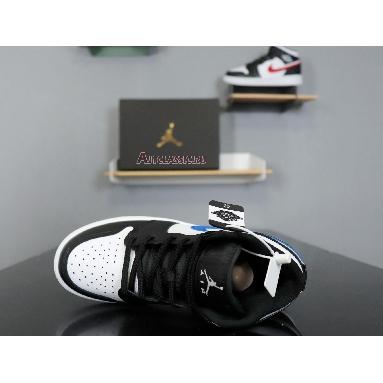 Air Jordan 1 Retro Mid GS Multi-Color Swoosh 554725-052 Black/White-University Red-Tour Yellow Sneakers