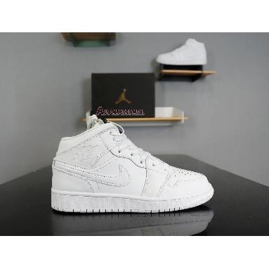 Air Jordan 1 Mid Triple White 554724-130 White/White-White Sneakers