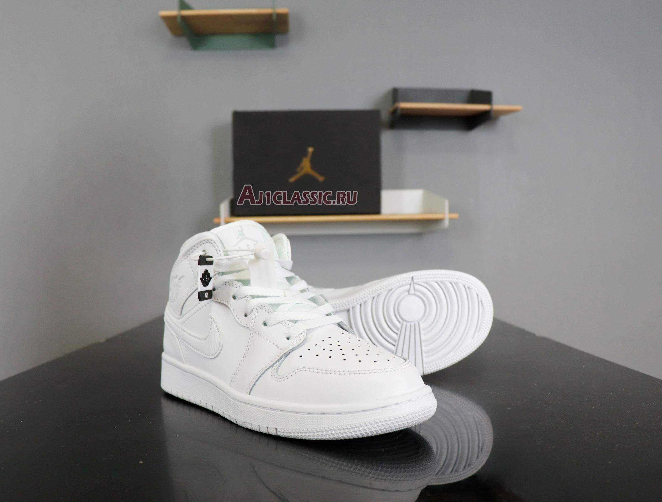 "Air Jordan 1 Mid ""Triple White"" 554724-130"