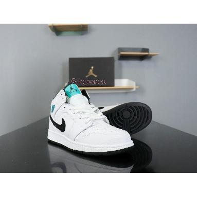 Air Jordan 1 Mid BG Hyper Jade 554725-122 White/Black-White-Hyper Jade Sneakers