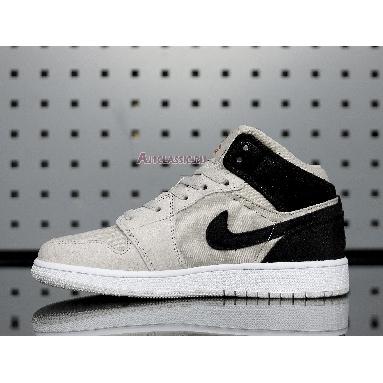 Air Jordan 1 Retro Mid Light Bone 554725-023 Light Bone/Metallic Gold Sneakers