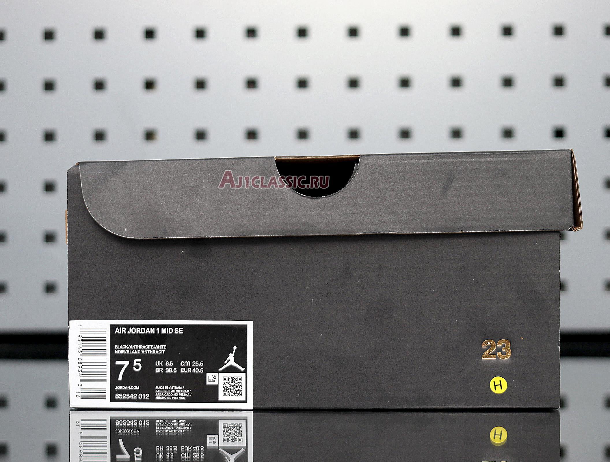 "Air Jordan 1 Mid SE Nylon ""Black Grey"" 852542-012"
