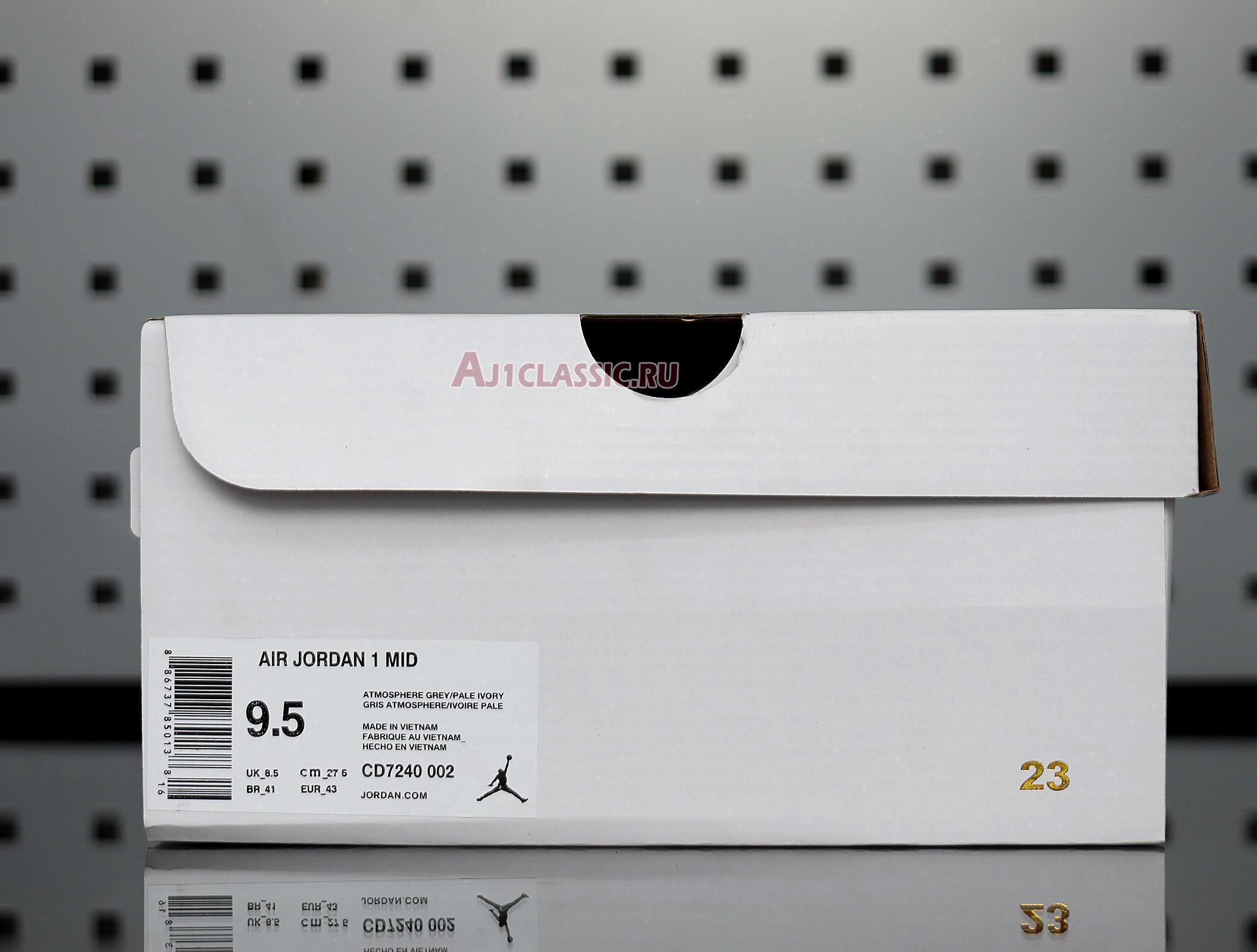 """Air Jordan 1 Mid """"Grey Light Bone"""" CD7240-002"""