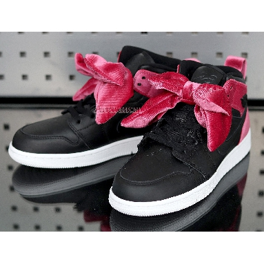 Air Jordan 1 Mid Bow XLD GS Noble Red CK5678-006 Black/Noble Red/White Sneakers