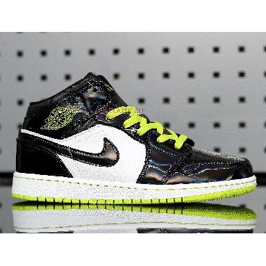 Air Jordan 1 Mid SE Black Cyber BQ6931-003 Black/Cyber-White-Mystic Green Sneakers