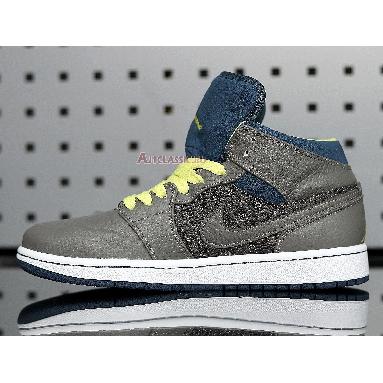 Air Jordan 1 Retro 97 TXT 555071-045 Flat Pewter/Flat Pewter-Electric Yellow Sneakers