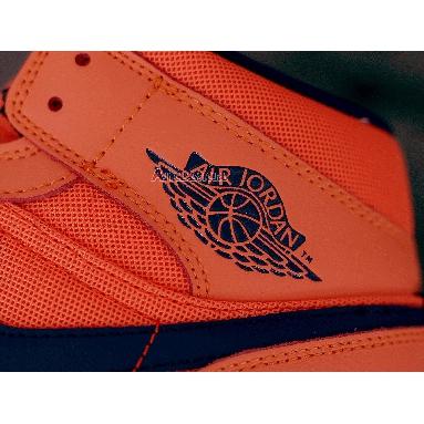 Air Jordan 1 Mid Turf Orange CD7240-804 Turf Orange/Blue Void Sneakers