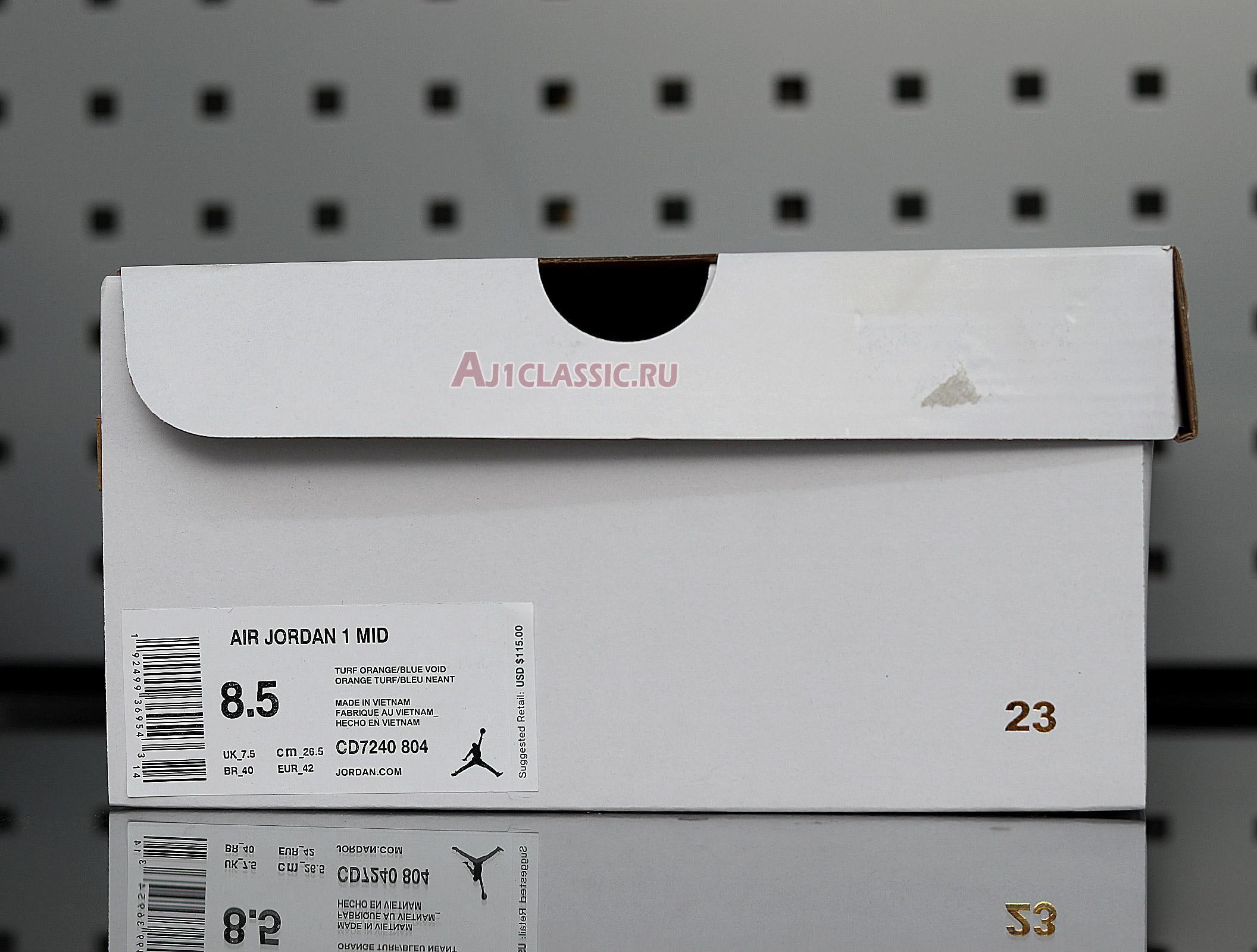 "Air Jordan 1 Mid ""Turf Orange"" CD7240-804"