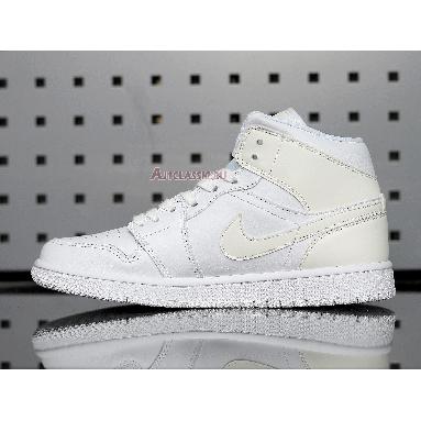 Air Jordan 1 Mid White Ivory BQ6472-112 White/White/White Sneakers