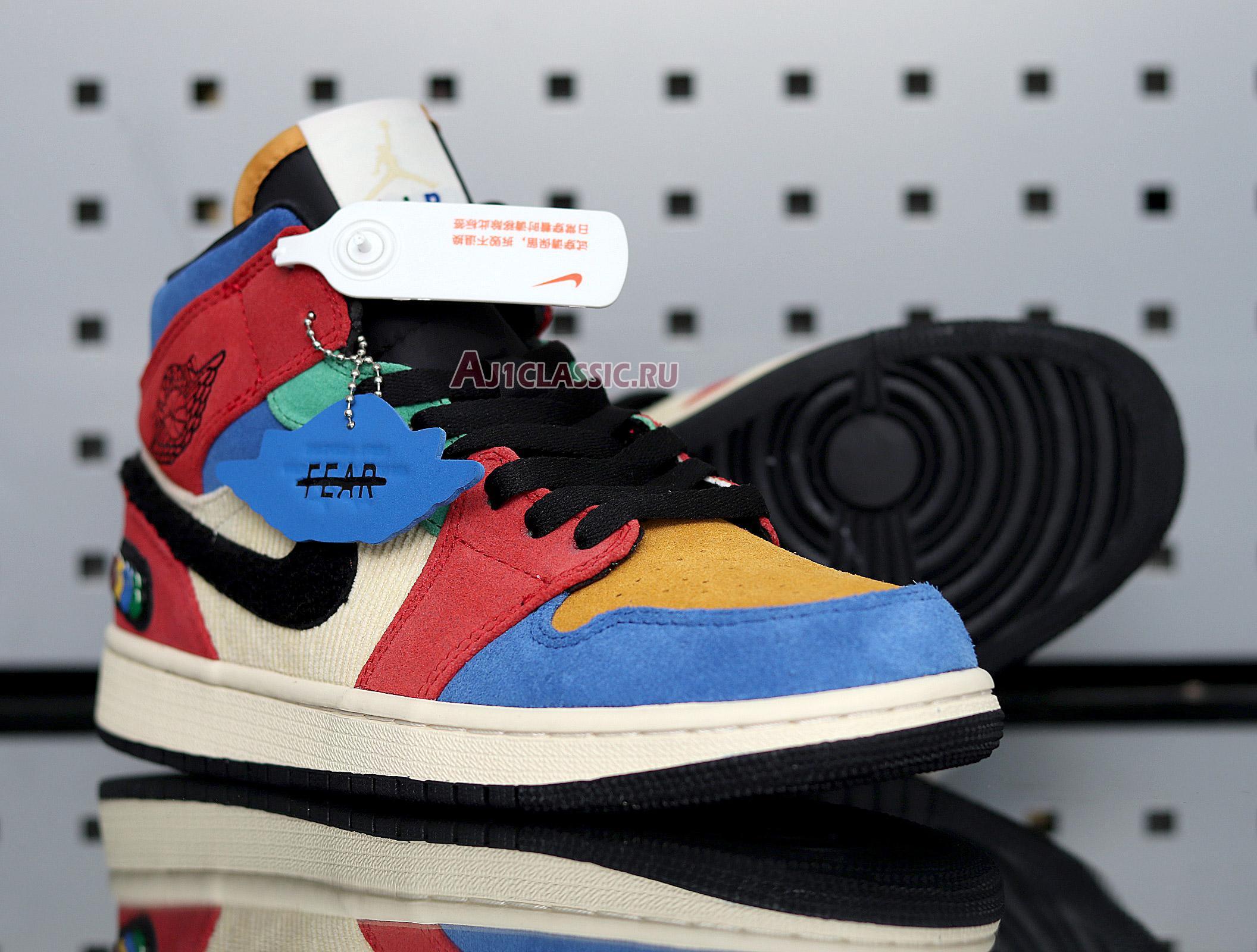 "Blue The Great x Air Jordan 1 Mid ""Fearless"" CU2805-100"