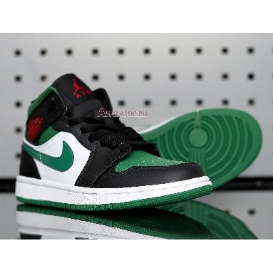 Air Jordan 1 Mid Pine Green 554724-067 Pine Green/White-Black-University Red Sneakers