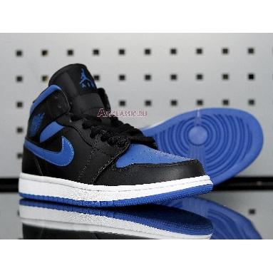 Air Jordan 1 Mid Black Hyper Royal 554724-068 Royal Blue/White/Black Sneakers