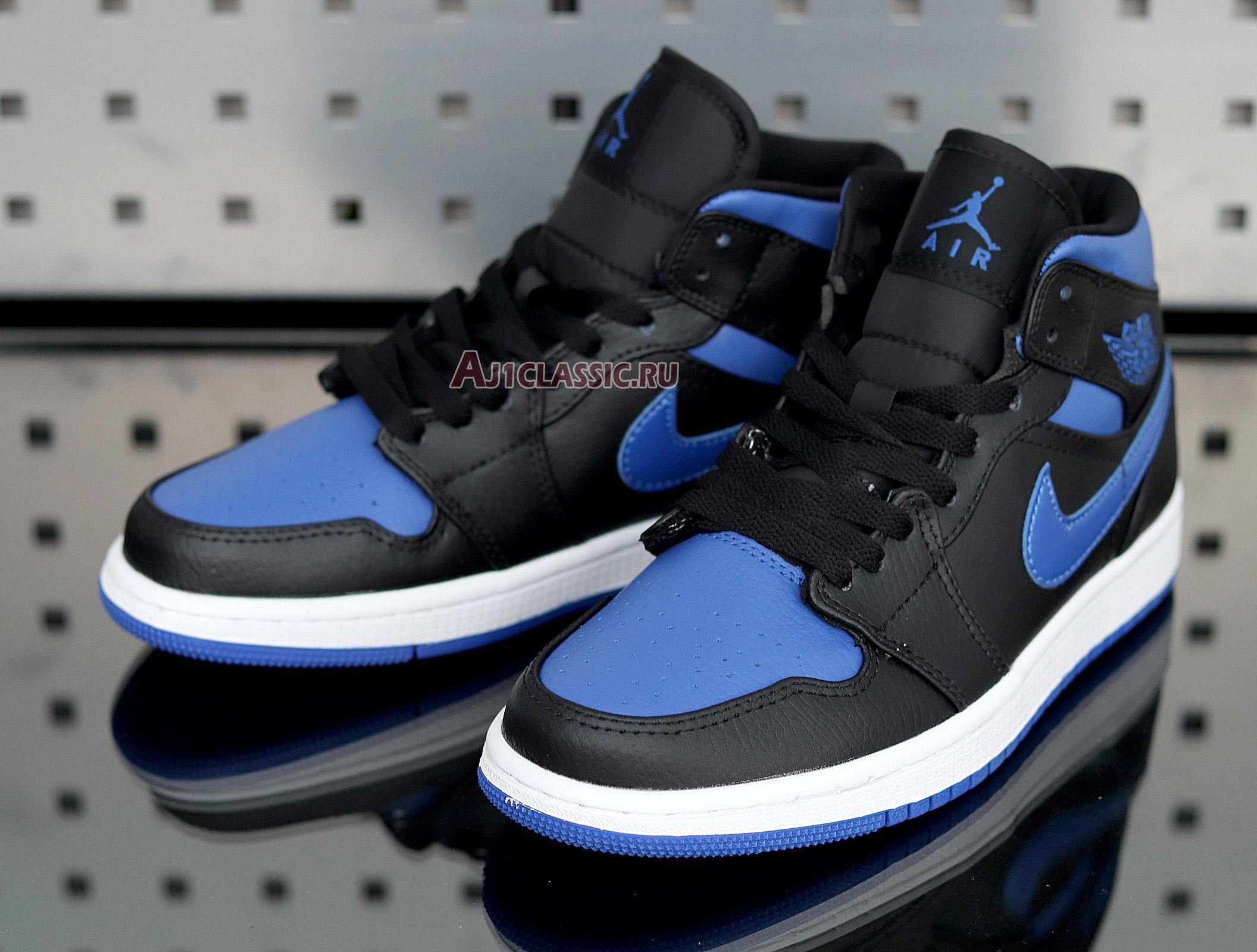 "Air Jordan 1 Mid ""Black Hyper Royal"" 554724-068"