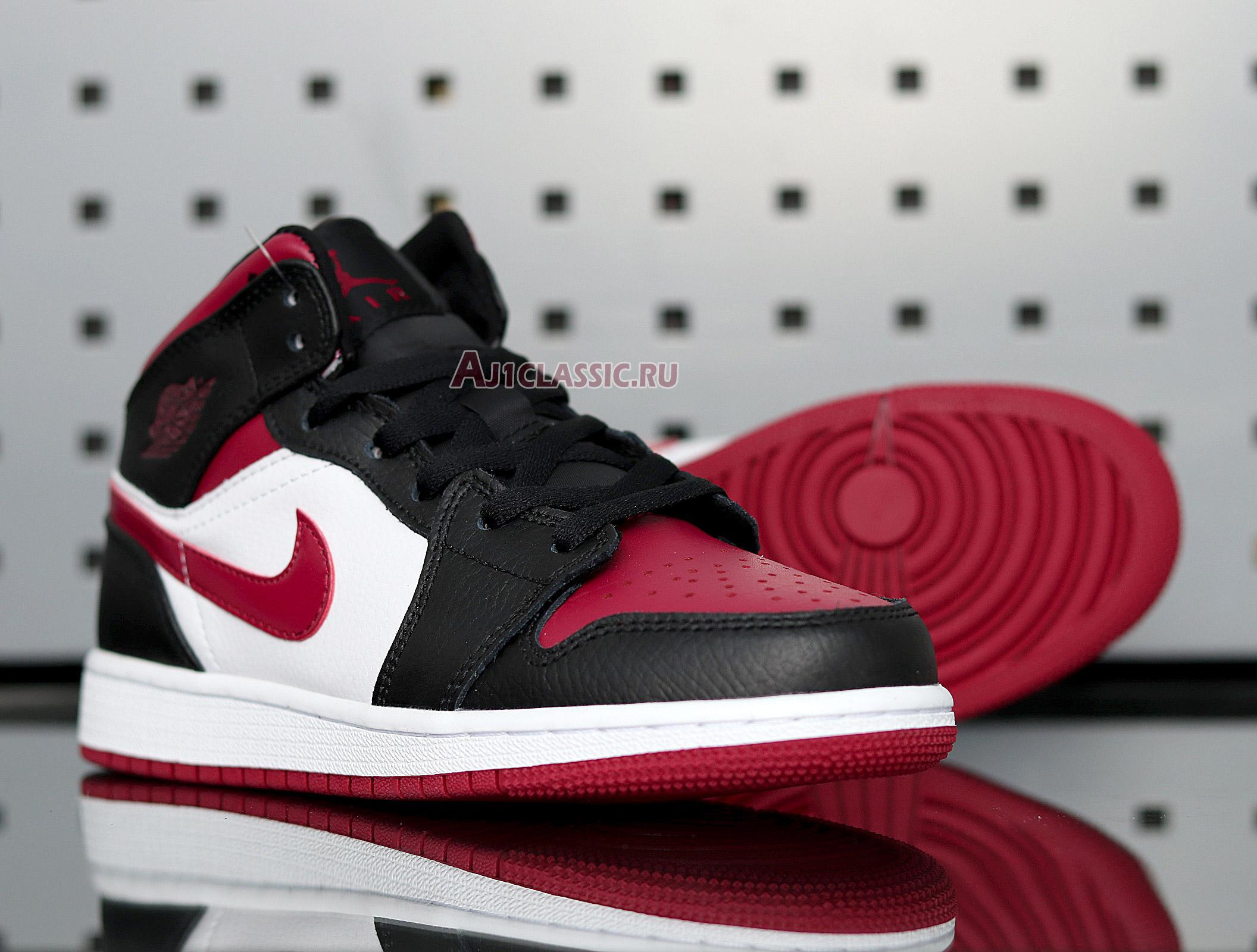 "Air Jordan 1 Mid ""Noble Red"" 554725-066"