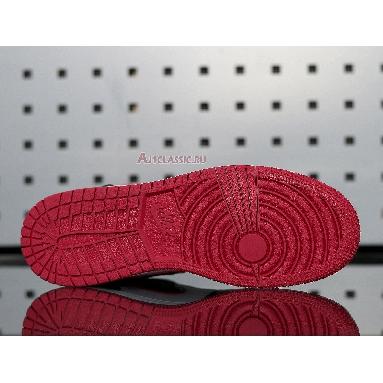 Air Jordan 1 Mid Noble Red 554725-066 Black/Noble Red/White Sneakers