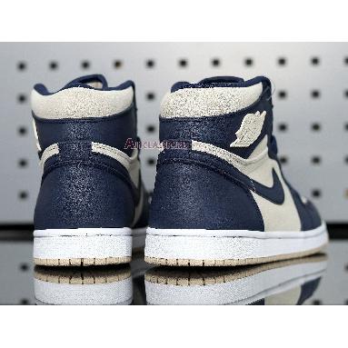 Air Jordan 1 High Navy Cream AQ9131-401 Midnight Navy/Light Cream-White Sneakers
