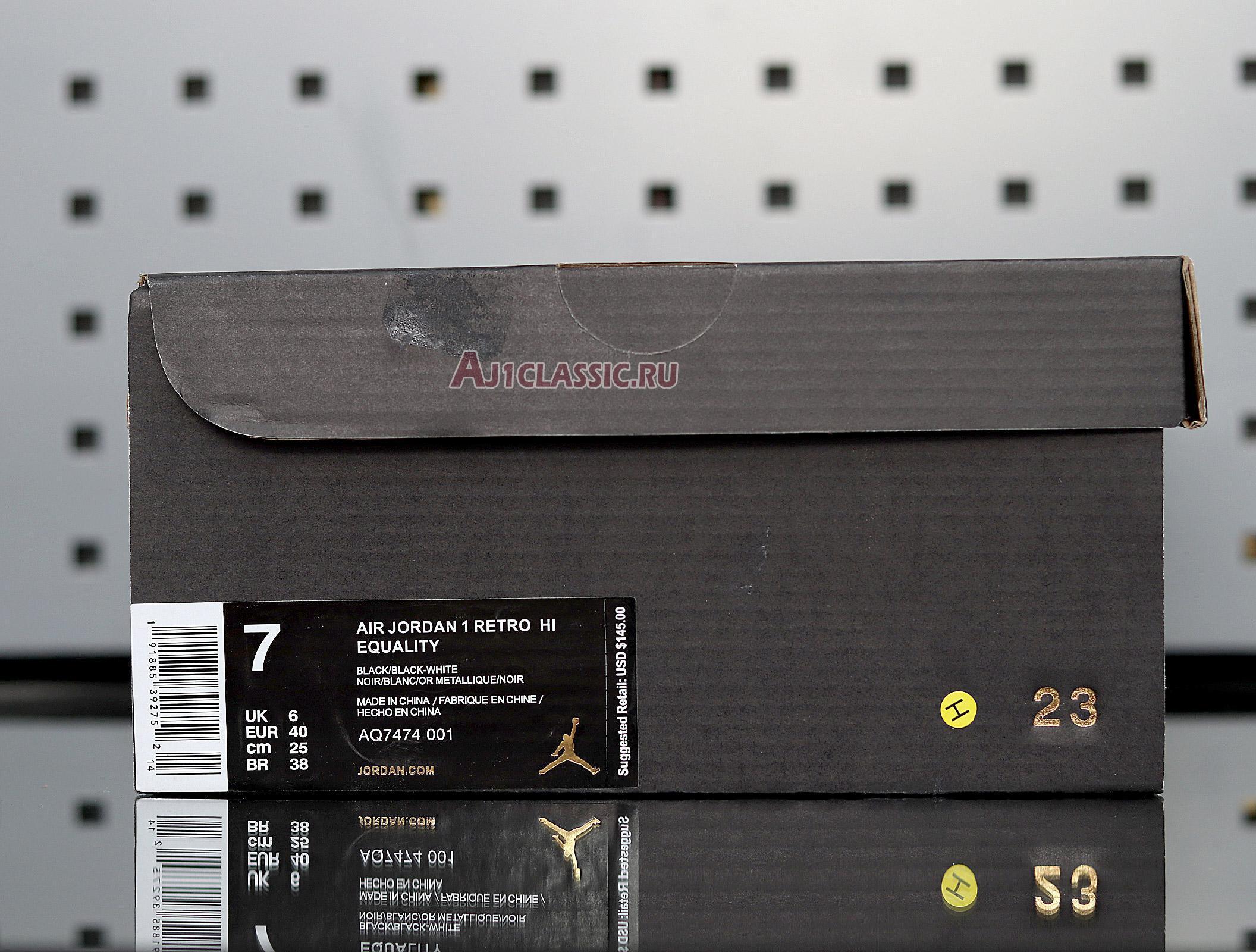 "Air Jordan 1 Retro High ""Equality"" AQ7474-001"