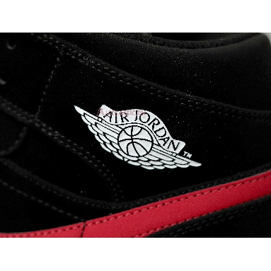 Air Jordan 1 Retro Mid Black University Red 554725-065 Black/University Red-Hyper Royal Sneakers