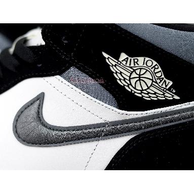Air Jordan 1 Mid SE Satin Smoke Grey 852542-011 Black/Sail/Smoke Grey Sneakers