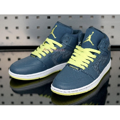 Air Jordan 1 Retro 97 TXT Squadron Blue 555071-445 Sqdrn Bl/Sqrn Bl-Elctrc Yllw Sneakers