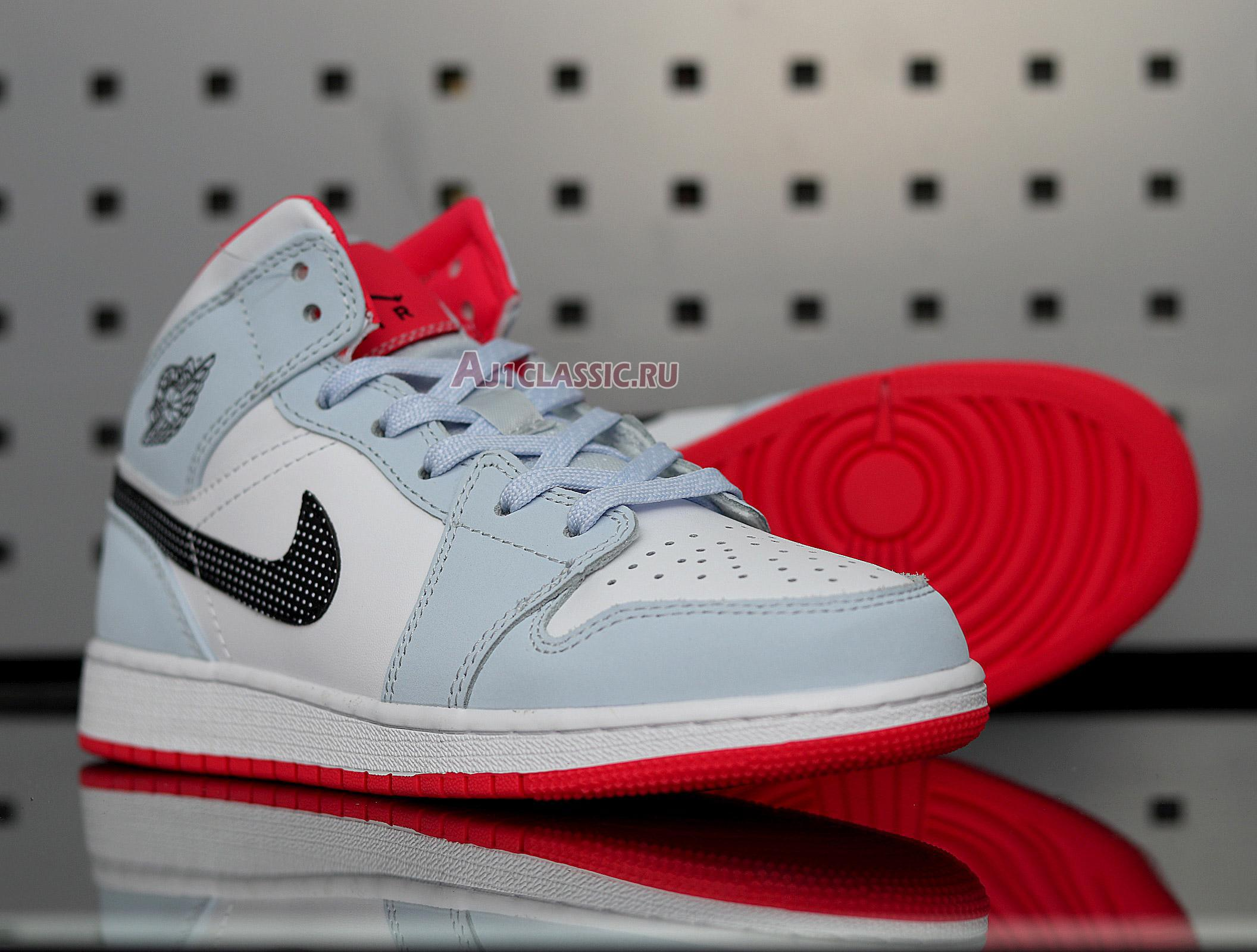 "Air Jordan 1 Mid ""Half Blue"" 555112-400"