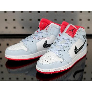 Air Jordan 1 Mid Half Blue 555112-400 Half Blue/Black/White Sneakers