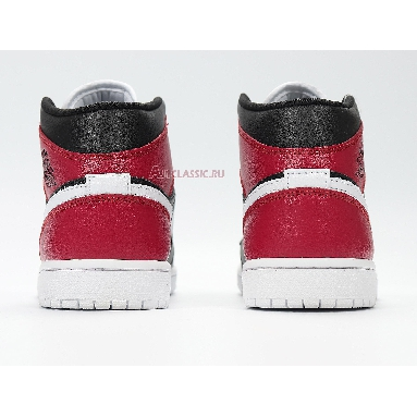 Air Jordan 1 Mid Noble Red BQ6472-016 Black/White/Noble Red Sneakers
