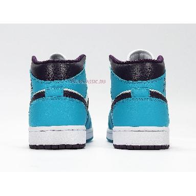 Air Jordan 1 Mid Hornets 554724-415 Sky Blue/White-Black Sneakers