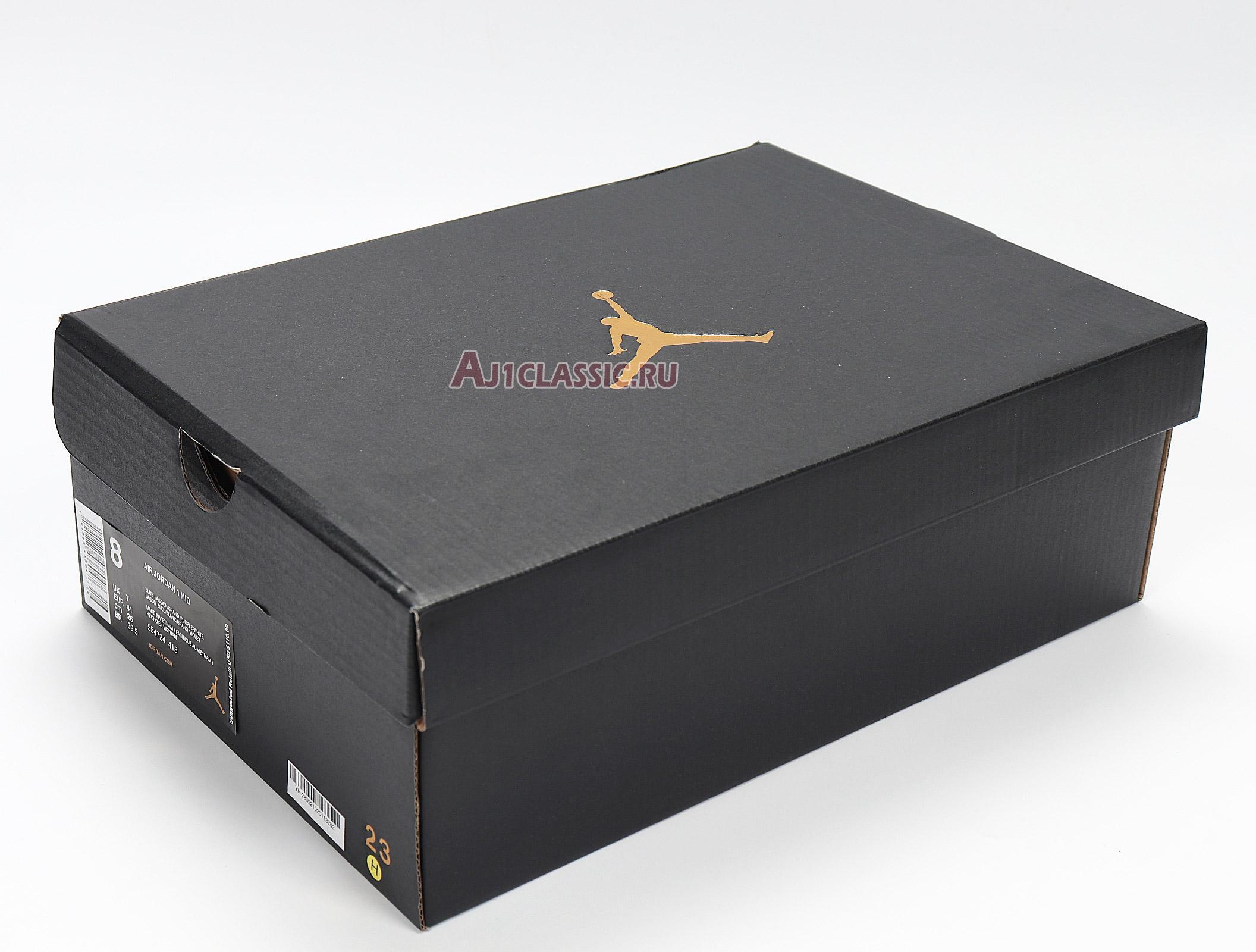 "Air Jordan 1 Mid ""Hornets"" 554724-415"