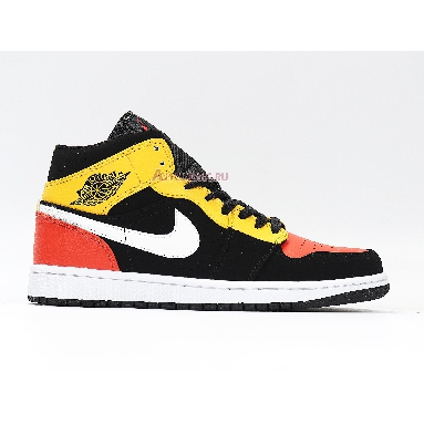 Air Jordan 1 Mid SE Amarillo 852542-087 Black/Amarillo/White/Team Orange Sneakers