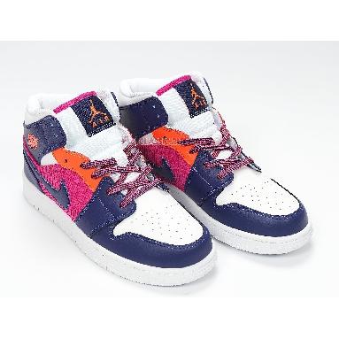 Air Jordan 1 Mid Fire Pink 555112-602 Pink Quartz/Dark Smoke Grey/White Sneakers