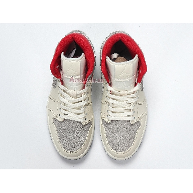 Sneakersnstuff x Air Jordan 1 Mid Past Present Future CT3443-100 Sail/Wolf Grey/Gym Red/White Sneakers